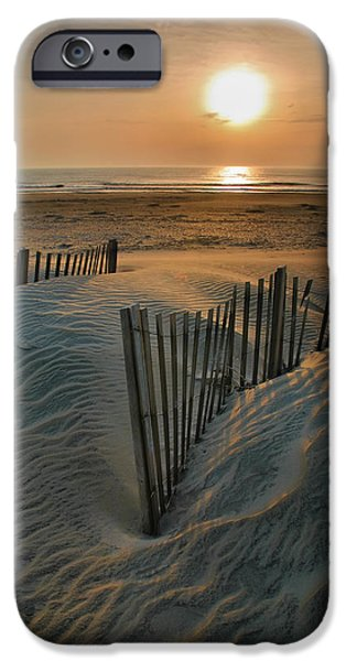 Banks iPhone Cases - Sunrise Over Hatteras iPhone Case by Steven Ainsworth