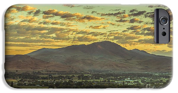 Haybale iPhone Cases - Sunrise Over Squaw Butte iPhone Case by Robert Bales
