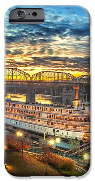 Sunrise Over The Delta Queen iPhone Case by Steven Llorca