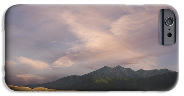 Escape iPhone Cases - Sunrise over the Great Sand Dunes iPhone Case by Keith Kapple