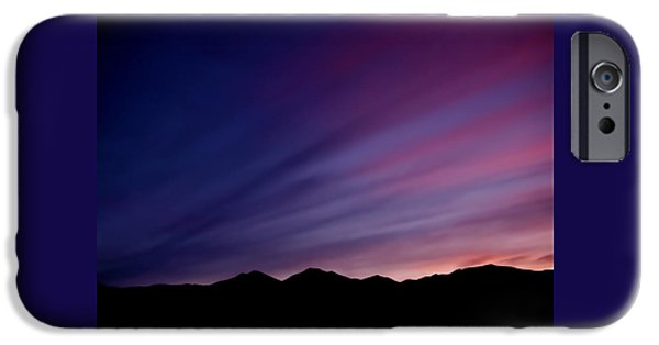 Mountain Photographs iPhone Cases - Sunrise over the Mountains iPhone Case by Rona Black