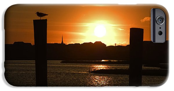 Topsail iPhone Cases - Sunrise Over Topsail Island iPhone Case by Mike McGlothlen