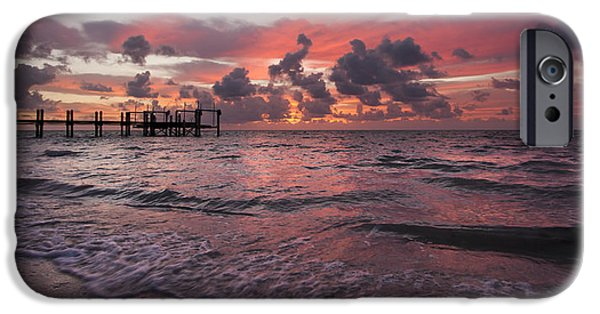 Gulf Of Mexico iPhone Cases - Sunrise Panoramic iPhone Case by Adam Romanowicz