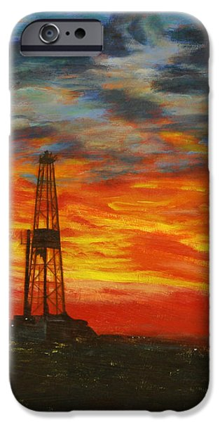 Sunrise Rig iPhone Case by Karen  Peterson