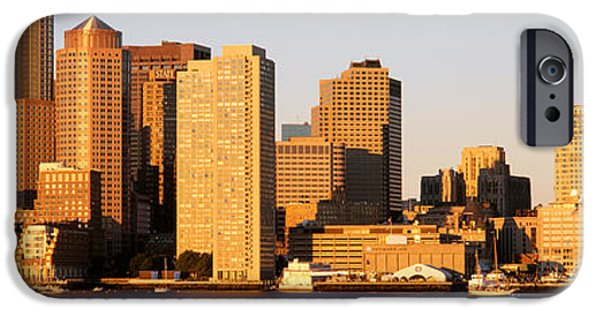 Boston Ma iPhone Cases - Sunrise, Skyline, Boston iPhone Case by Panoramic Images