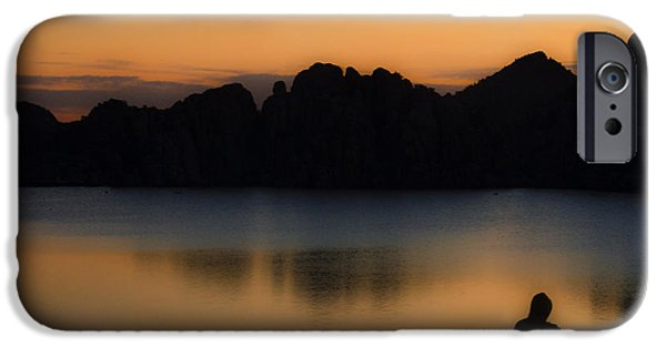 Watson Lake iPhone Cases - Sunrise Solitude iPhone Case by Dave Dilli