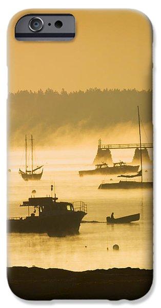 Daybreak iPhone Cases - Sunrise - Southwest Harbor - Mount desert Island - Maine iPhone Case by Keith Webber Jr