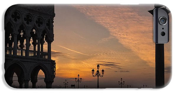 Piazza San Marco iPhone Cases - Sunrise St Marks Square iPhone Case by Marion Galt