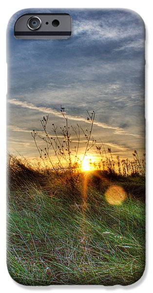 Sunrise Through Grass iPhone Case by Tim Buisman
