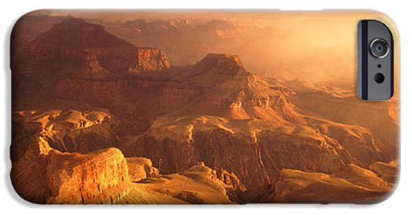 Hopi iPhone Cases - Sunrise View From Hopi Point Grand iPhone Case by Panoramic Images