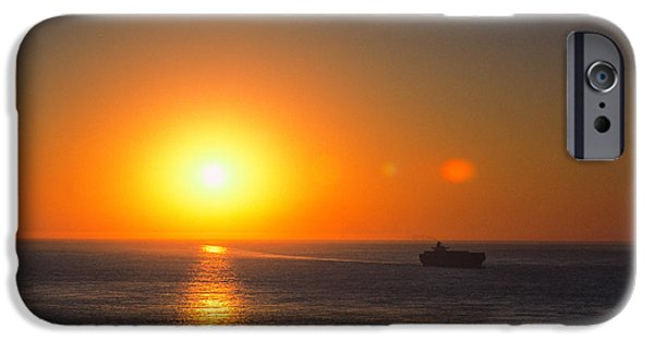 Sailboats iPhone Cases - Sunset 2 iPhone Case by Jeremy Herman