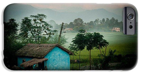 Tibetan Buddhism iPhone Cases - Sunset and mist iPhone Case by Raimond Klavins