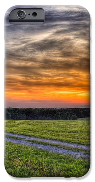 Sunset and The Road Home iPhone Case by Reid Callaway