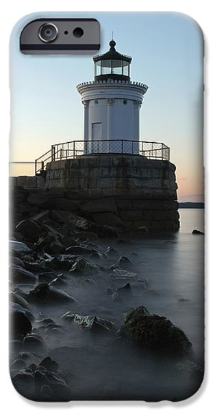 Maine Seacoast iPhone Cases - Sunset at Bug Light  iPhone Case by Juergen Roth