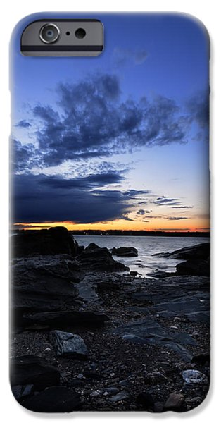 Park Scene iPhone Cases - Sunset At Fort Getty iPhone Case by Lourry Legarde