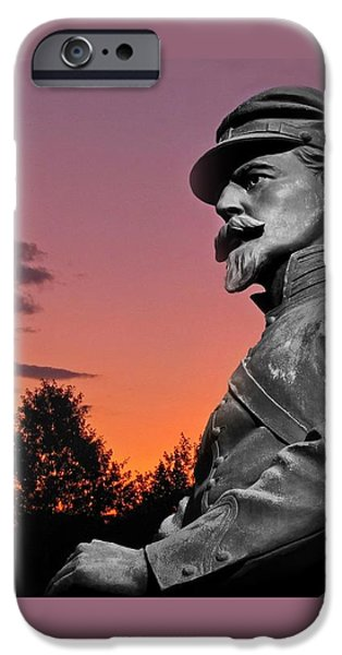 David iPhone Cases - Sunset at Gettysburg  iPhone Case by David Dehner
