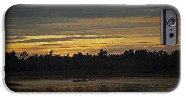 Buy iPhone Cases - Sunset at Grundy Lake  iPhone Case by Elaine Mikkelstrup