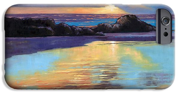 Janet King iPhone Cases - Sunset at Havika Beach iPhone Case by Janet King