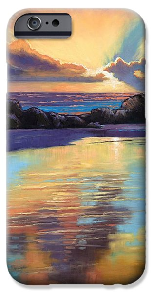 Sunset at Havika Beach iPhone Case by Janet King