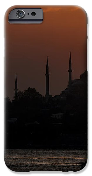 Sunset at Historical Peninsula in Istanbul iPhone Case by Ayhan Altun