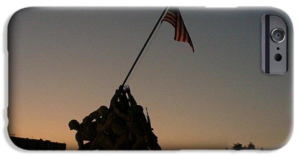 Patriotism iPhone Cases - Sunset at Iwo Jima  iPhone Case by Lingfai Leung