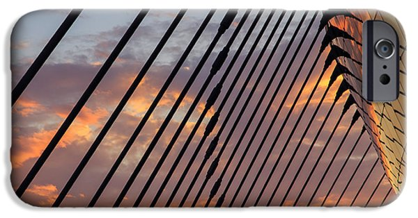 Symphony Hall iPhone Cases - Sunset at Kauffman Art Center iPhone Case by Dennis Hedberg
