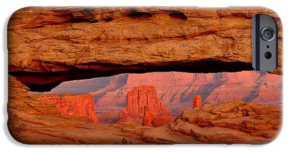 United iPhone Cases - Sunset at Mesa Arch iPhone Case by Tranquil Light  Photography