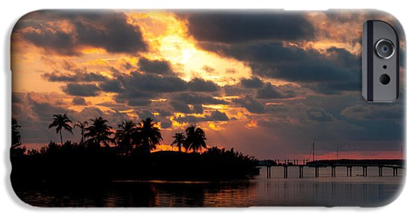 Michelle iPhone Cases - Sunset at Mitchells Keys Villas iPhone Case by Michelle Wiarda