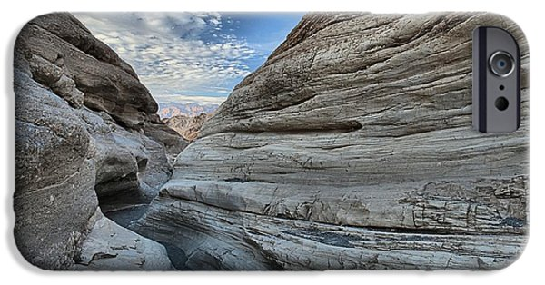 Mosaic iPhone Cases - Sunset At Mosaic Canyon iPhone Case by Adam Jewell