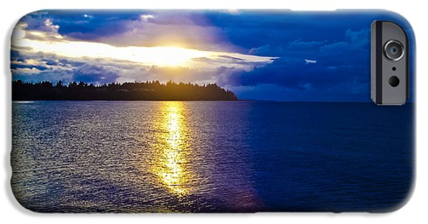Sunflare iPhone Cases - Sunset at Parksville Beach iPhone Case by Christi Kraft