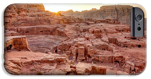 Jordan iPhone Cases - Sunset at Petra iPhone Case by Alexey Stiop