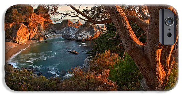 Big Sur Ca iPhone Cases - Sunset At Pfeiffer Burns iPhone Case by Adam Jewell