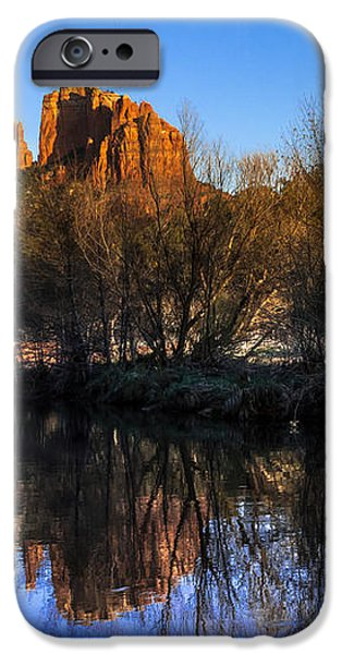 Sunset at Red Rocks Crossing in Sedona AZ iPhone Case by Teri Virbickis