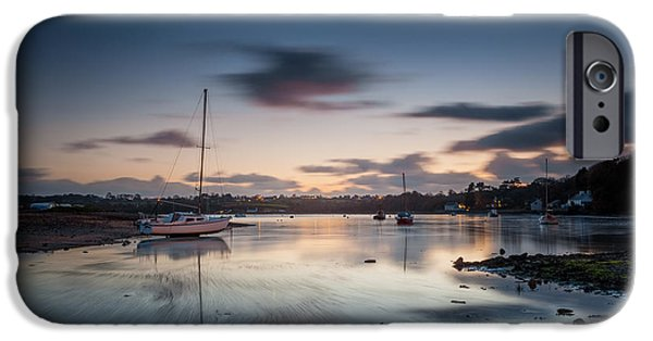 Recently Sold -  - Pastel iPhone Cases - Sunset at Red Wharf Bay iPhone Case by Christine Smart