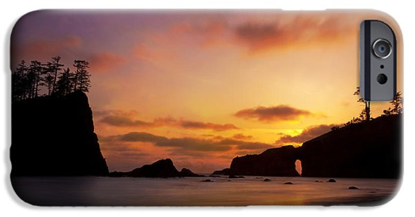 Strange iPhone Cases - Sunset at Second Beach iPhone Case by Keith Kapple