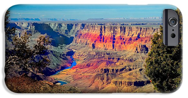Haybale iPhone Cases - Sunset at South Rim iPhone Case by Robert Bales
