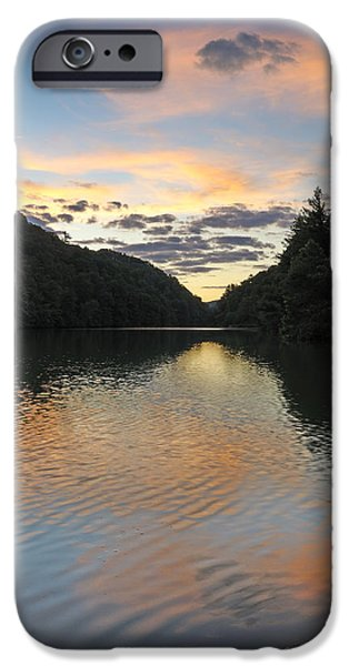 Nature Scene iPhone Cases - Sunset at Steele Creek Park - Bristol Tennessee iPhone Case by Brendan Reals