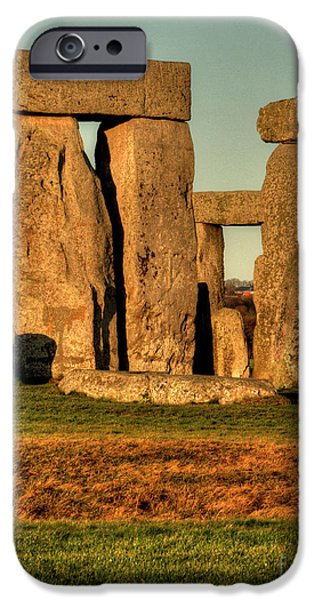 Sunset at Stonehenge 2 iPhone Case by Deborah Smolinske