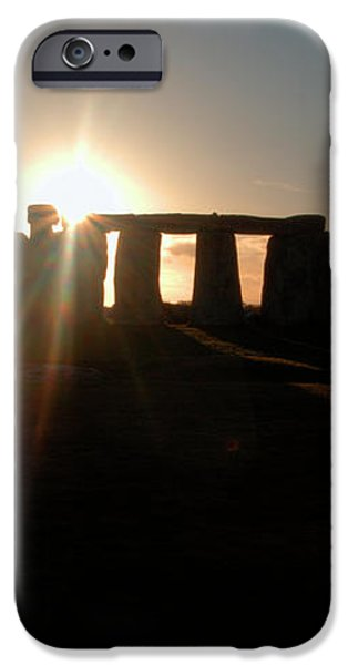 Sunset at Stonehenge 3 iPhone Case by Deborah Smolinske