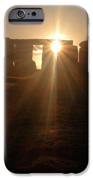 Sunset at Stonehenge 6 iPhone Case by Deborah Smolinske