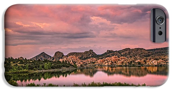 Watson Lake iPhone Cases - Sunset at the Dells iPhone Case by Medicine Tree Studios