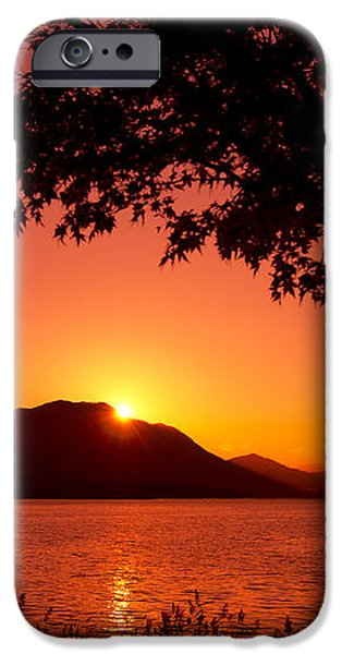Sunset at the Lake iPhone Case by Beverly Claire Kaiya