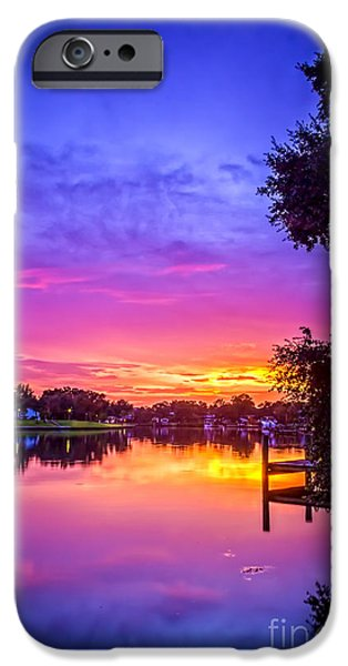 Bayou iPhone Cases - Sunset at the Pier iPhone Case by Marvin Spates