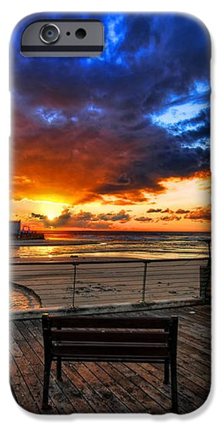 sunset at the port of Tel Aviv iPhone Case by Ron Shoshani
