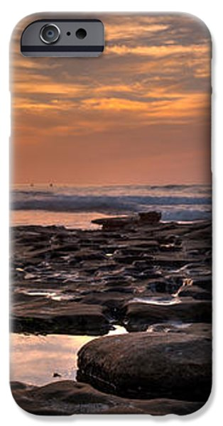 Sunset at the Tidepools II iPhone Case by Peter Tellone