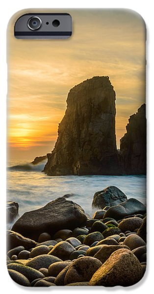 Strange iPhone Cases - Sunset At The Worlds End IV iPhone Case by Marco Oliveira