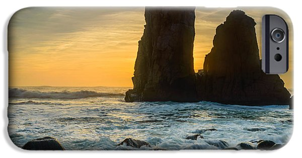 Strange iPhone Cases - Sunset At The Worlds End iPhone Case by Marco Oliveira
