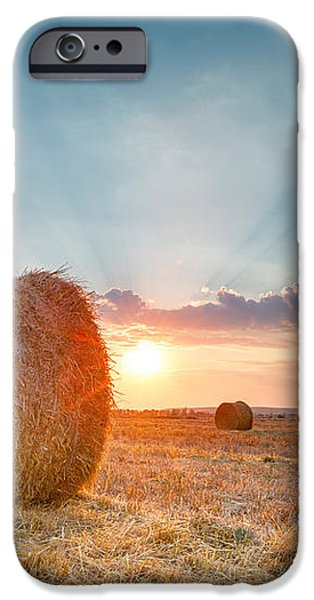 Sunset Bales iPhone Case by Evgeni Dinev
