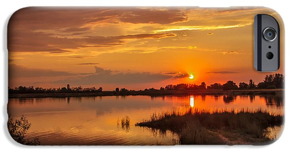 Emmett iPhone Cases - Sunset Beauty Over Water iPhone Case by Robert Bales