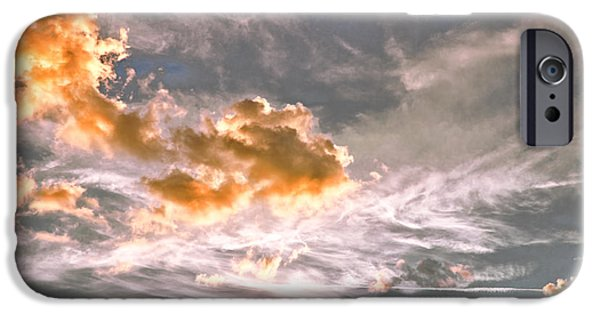 Beach iPhone Cases - Sunset Behind Dunes 2 iPhone Case by Louise Hill